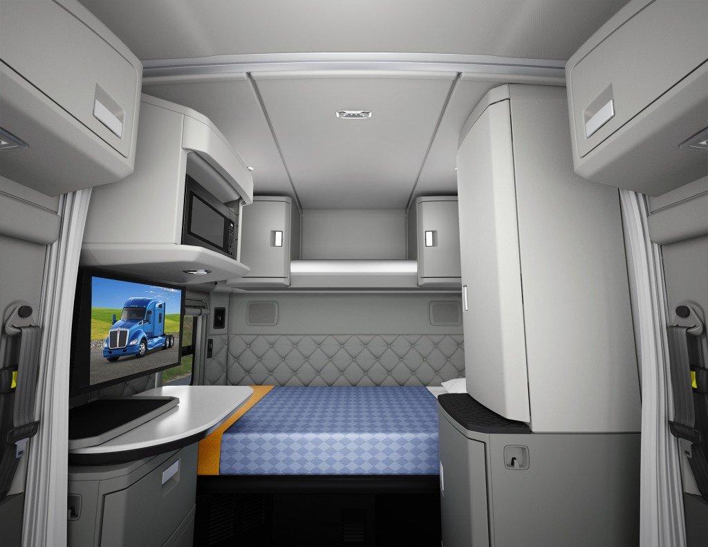 Фото кабин и спальника лучших грузовиков мира