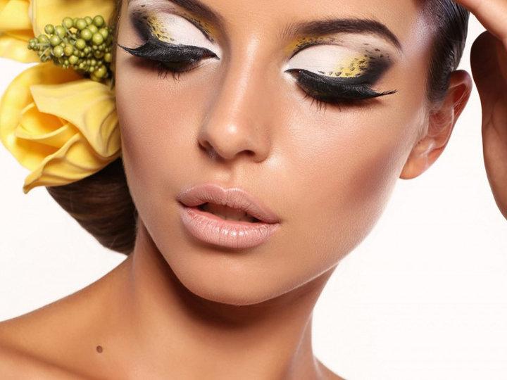 Смелый леопардовый макияж