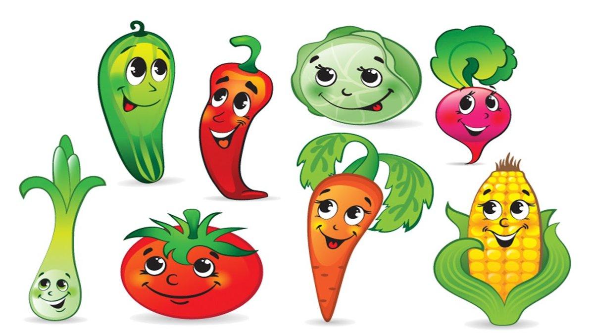 Нарисованные овощи и фрукты картинки