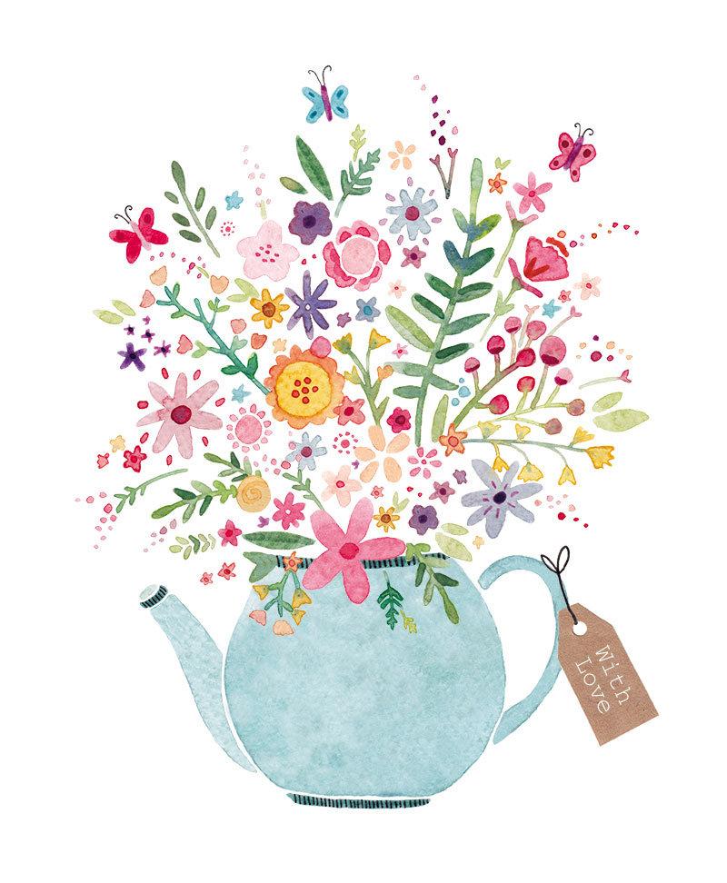 Арт открытки с цветами, открытку
