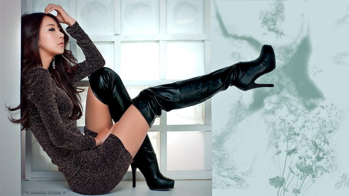 заводи новых трахни девушку в черных длинных сапогах попса