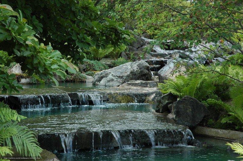 Ручей,  каскад,  сад,  япония, обои, картинки, изображения, для, на, рабочий, стол, хорошее, качество, высокое, резрешение, бесплатно, широкоформатные.