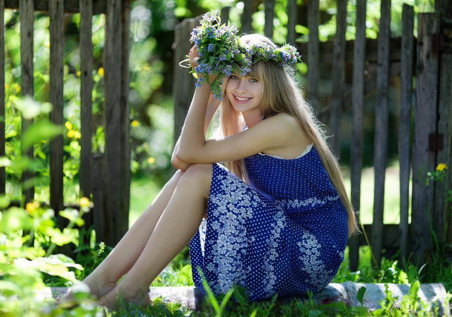 Фотосеты деревенских девушек — 12