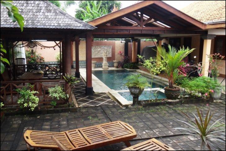 Дизайн двора частного дома, обустройство