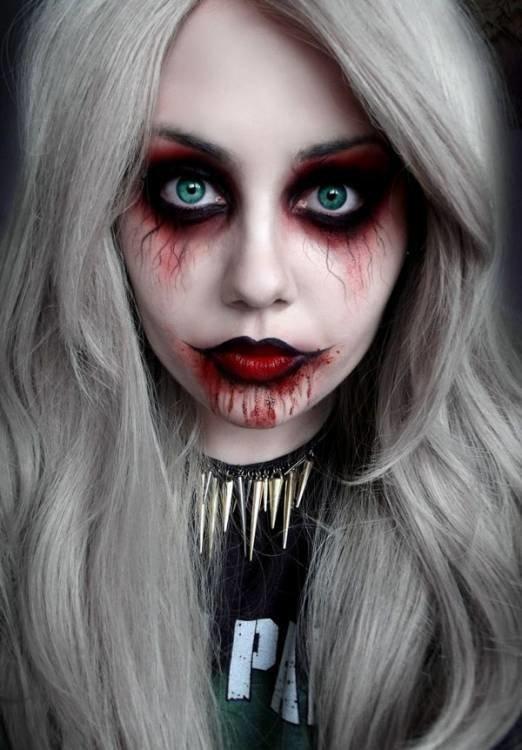 Макияж сексуальной вампирши на хэллоуин
