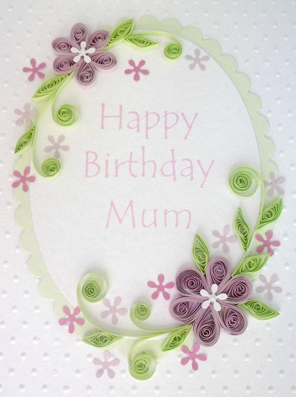Открытки квиллингом на день матери, днем рождения фаниса