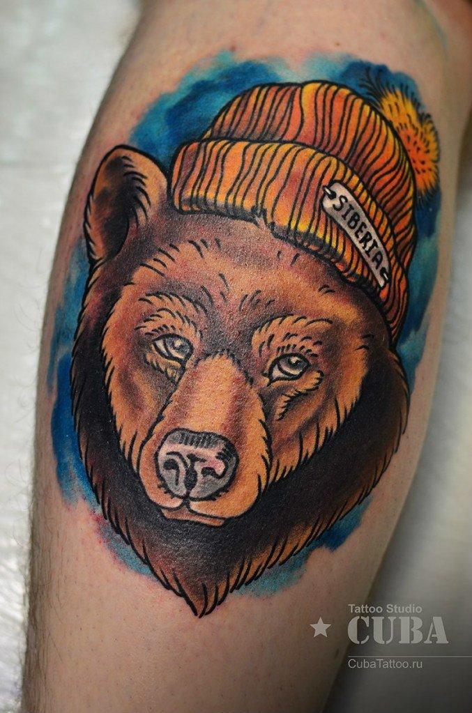 называют тату медведь в шапке может