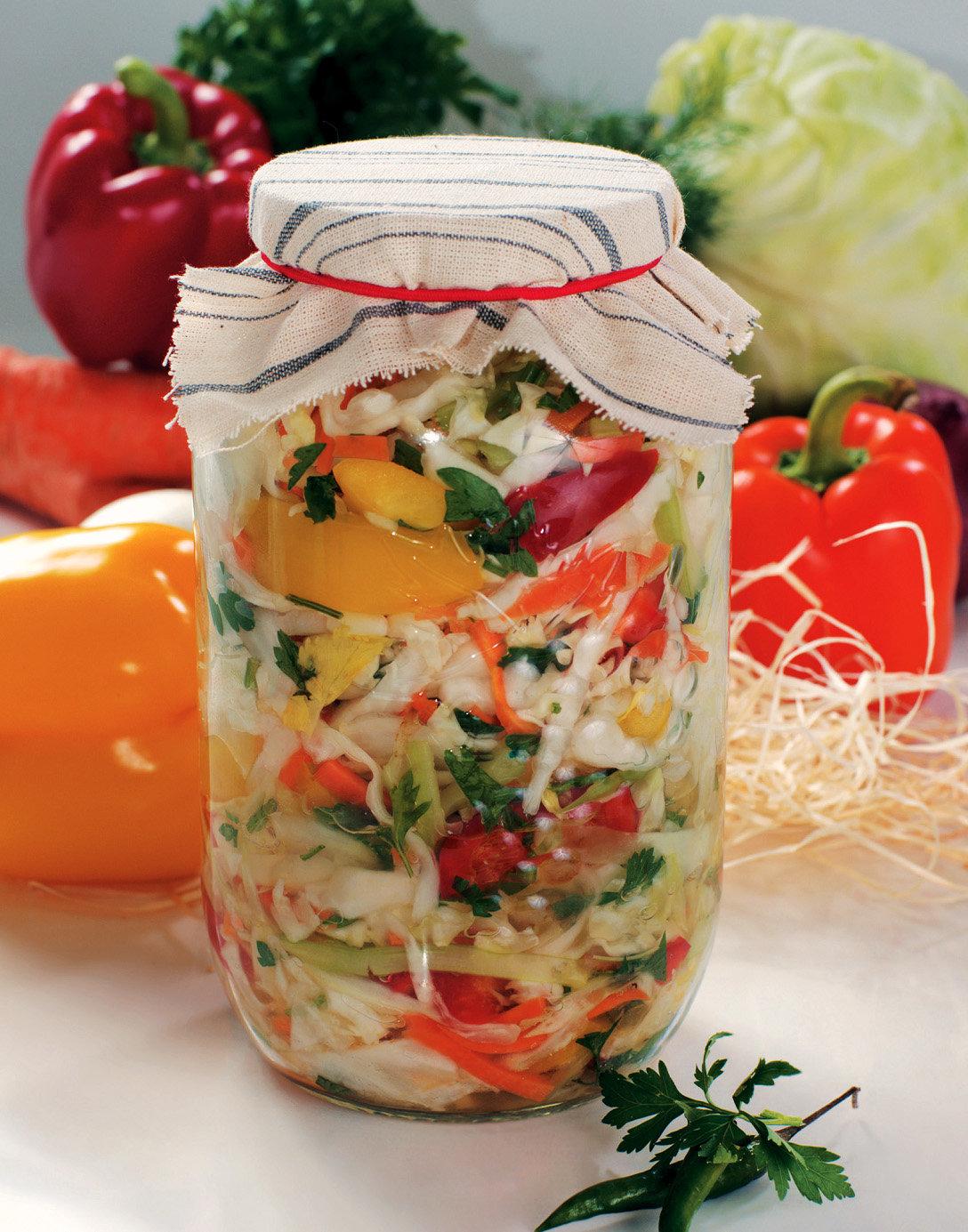 рецепт салата на зиму из белокочанной капусты