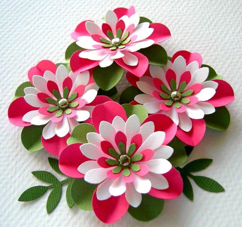 Днем рождения, картинки из цветной бумаги цветы