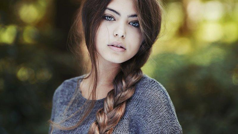 девушка с косой фото