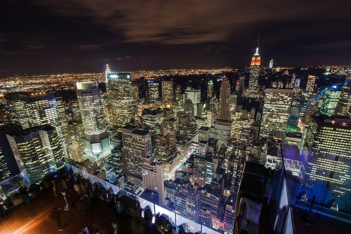 Фото красивого вида на ночной город