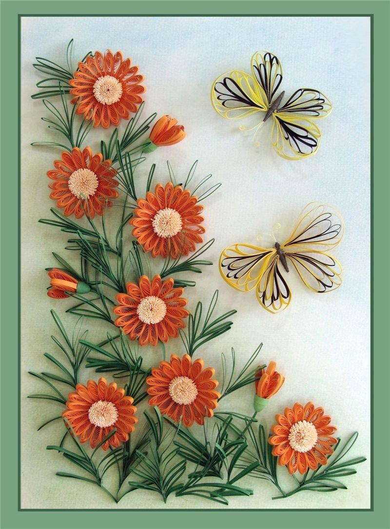 Объемные открытки из бумаги из гофрированной бумаги