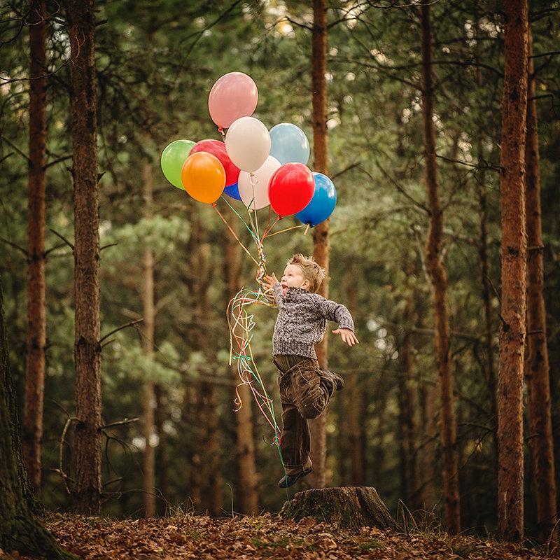 нам повезло, идеи для фотографий с шариками осваивать