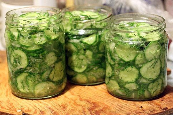 салат из огурцов с капустой на зиму рецепты без стерилизации