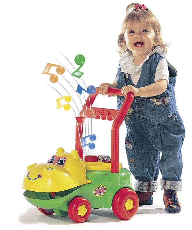 Бегемотик - детская игрушка-каталка