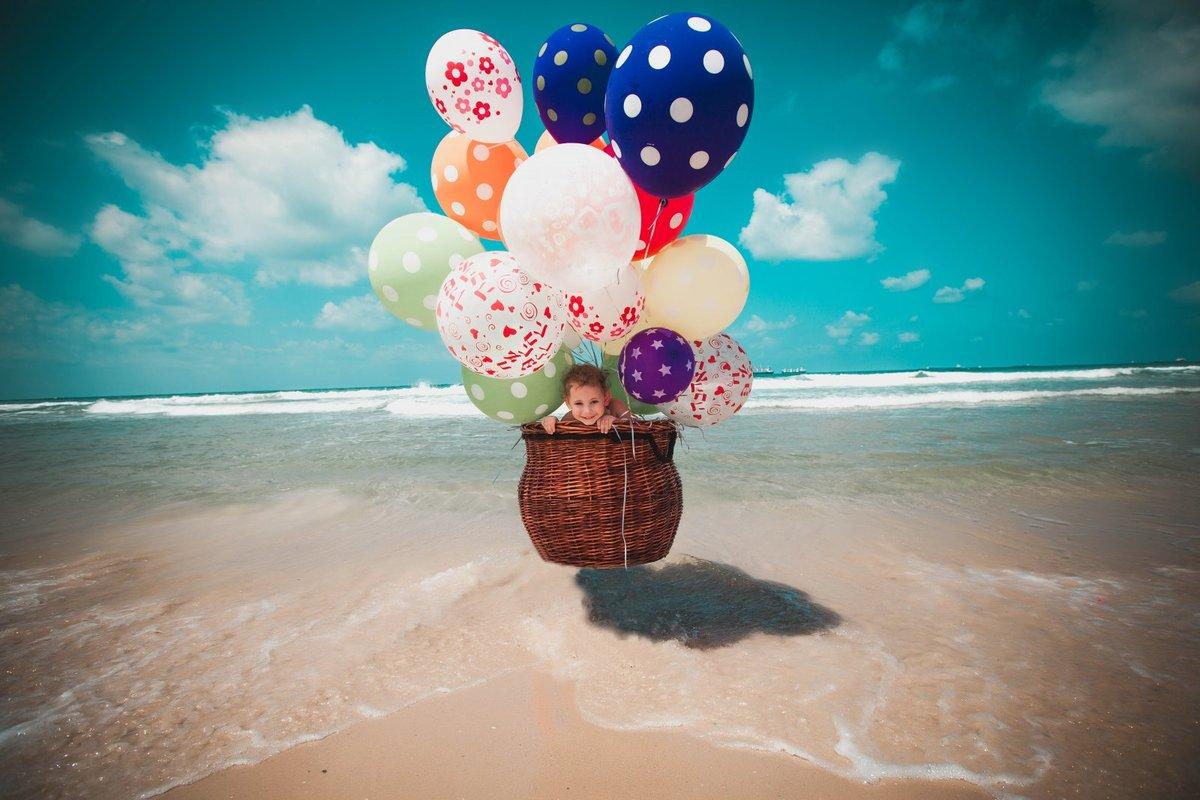Открытка шары море с днем рождения, картинки про зубного