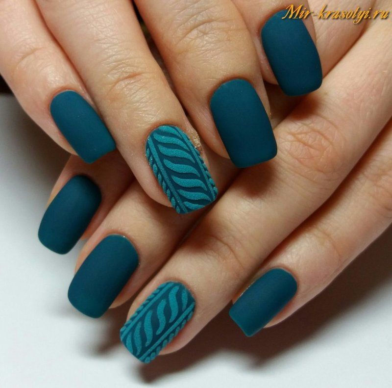 ногти фото цвет морской волны