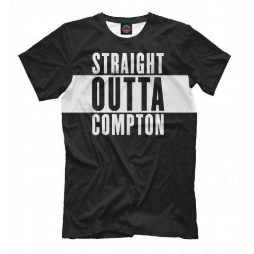 Мужская футболка 3D Straight Outta Compton