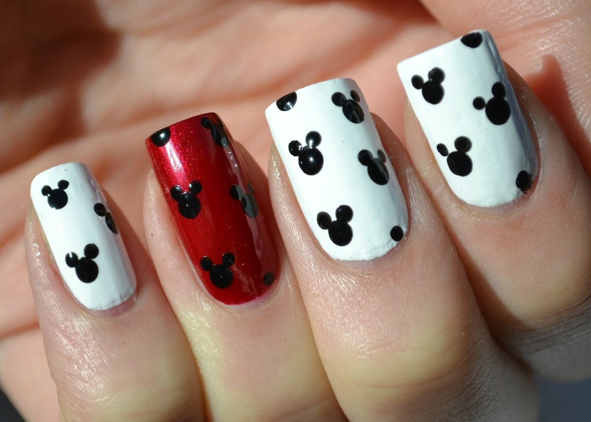 Картинки самый простой рисунок на ногтях