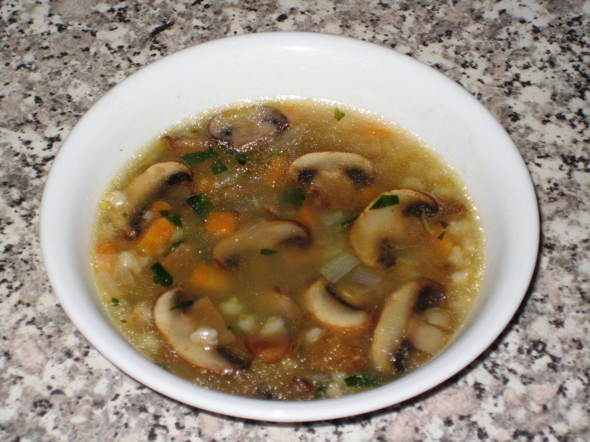 Суп из грибной солянки
