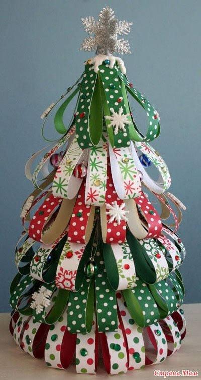 Оригинальные новогодние елки своими руками 61