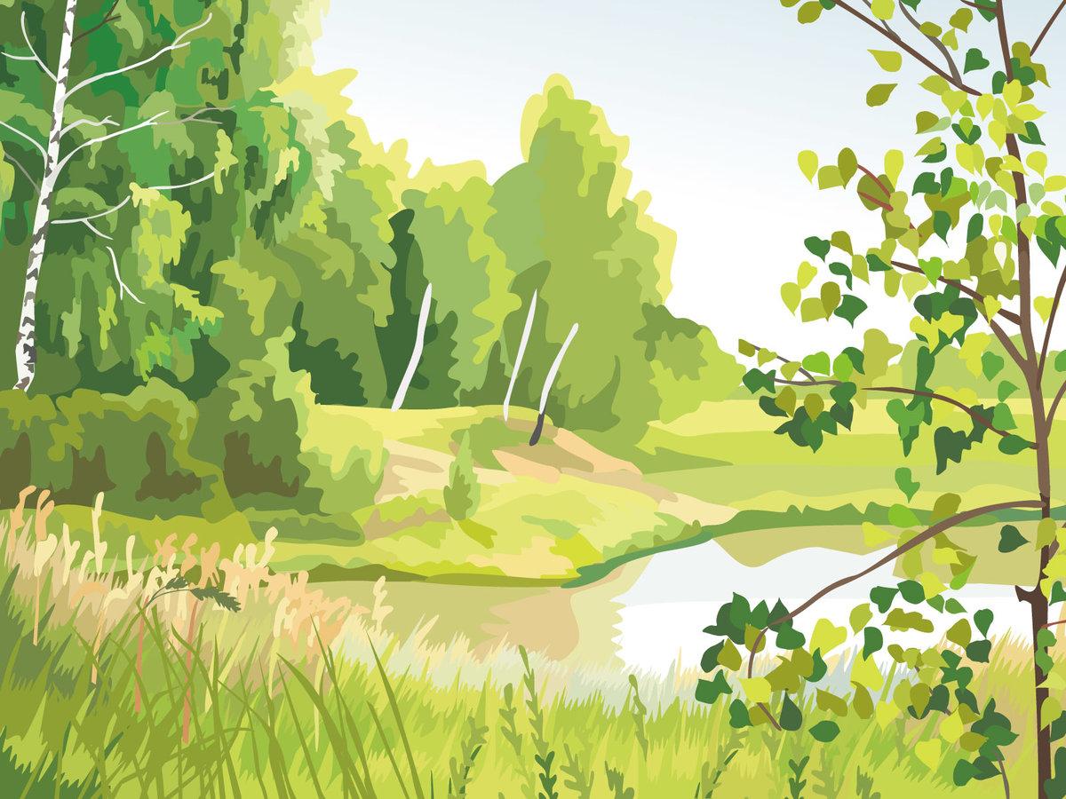 Картинки природы рисованные для детей