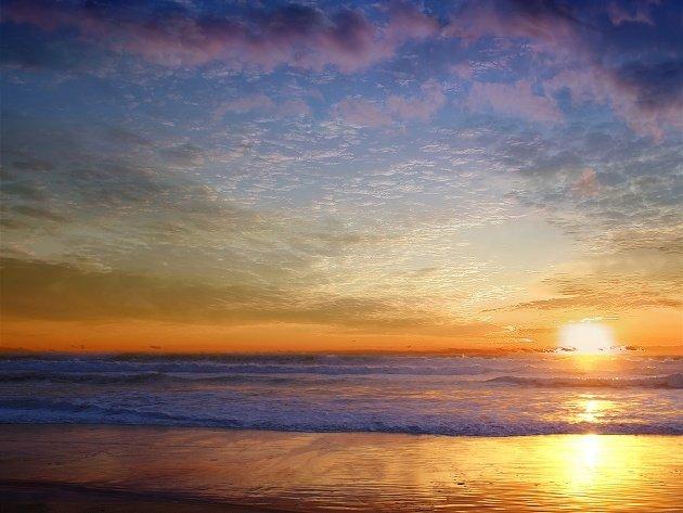 Раннее утро у моря.