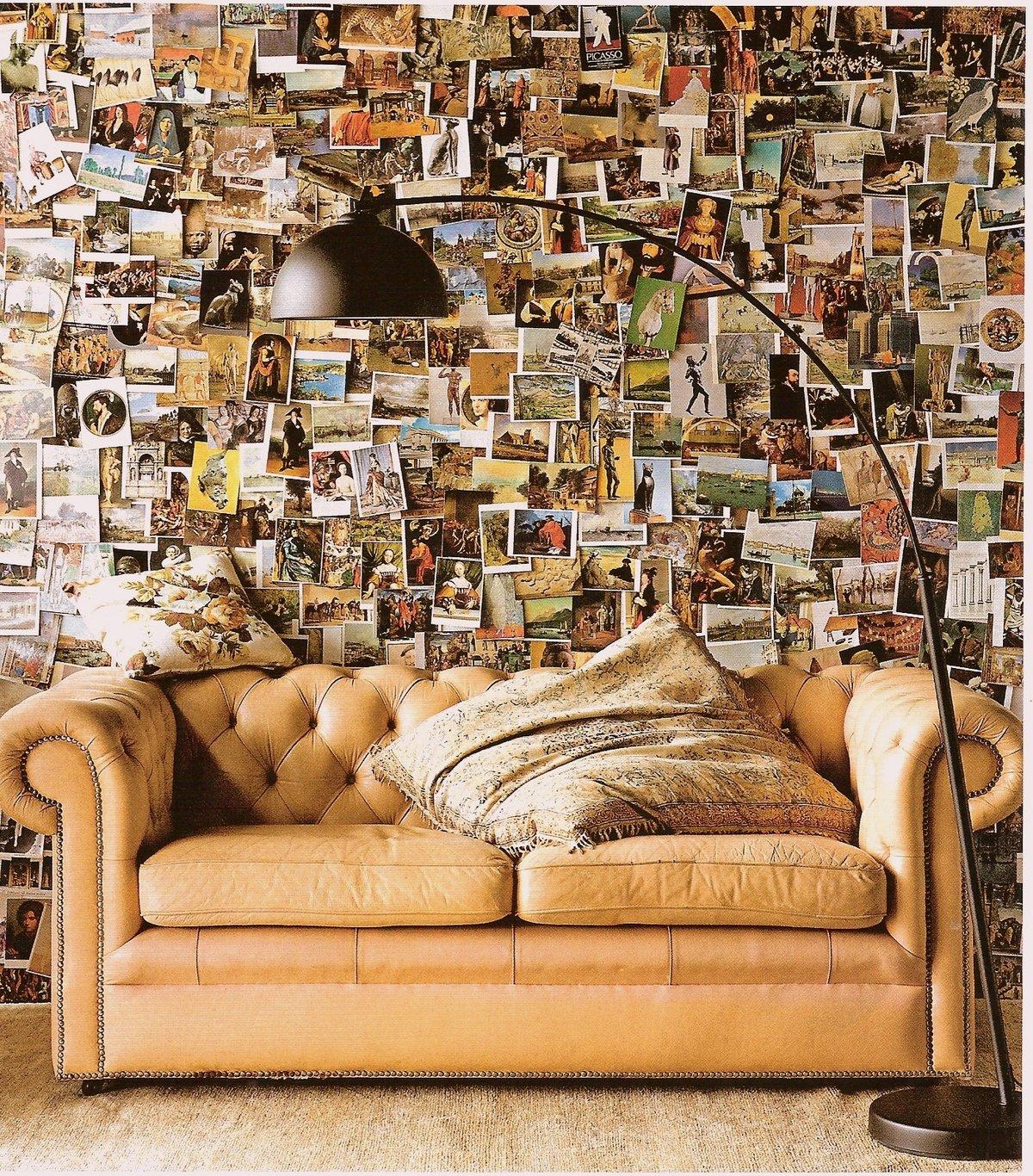 кошка стены картинками из журналов объяснение увиденному так