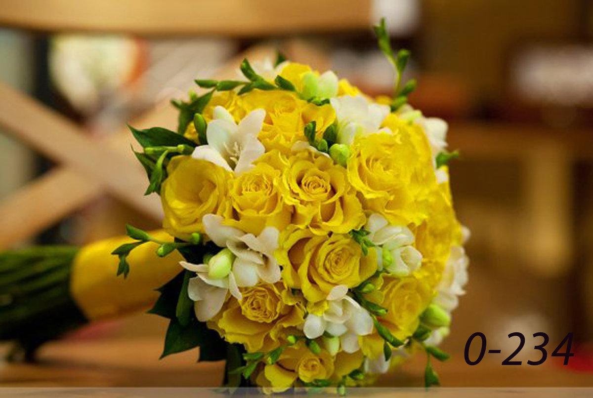 Желтые свадебные букеты, ясенево букеты невест