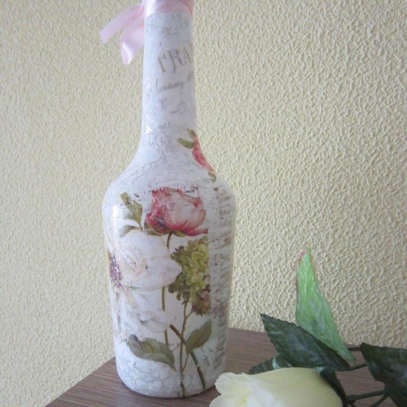 если бутылки в стиле шебби шик декупаж фото кимоно