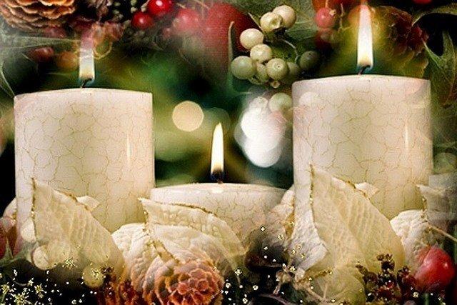 Новогодние свечи своими руками с листочками