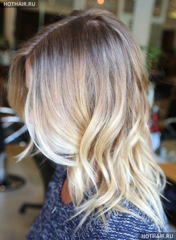Омбре на светло русые волосы фото