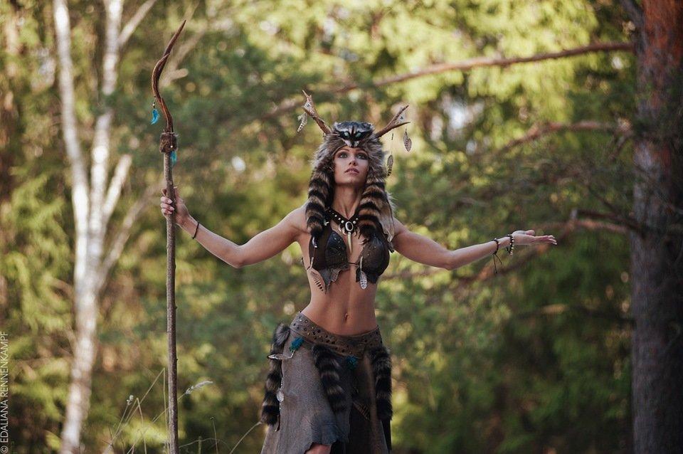 Фотосессия в костюме амазонки