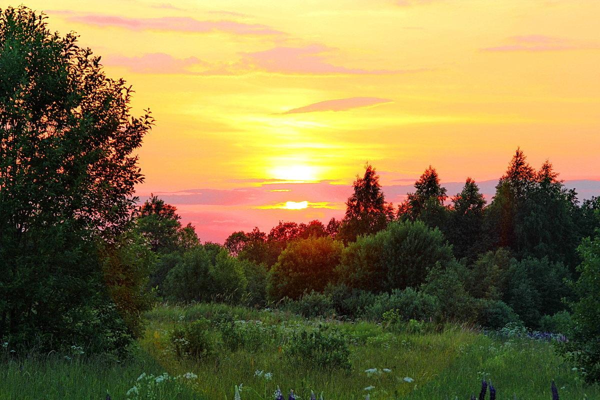 Картинки закат природа летом