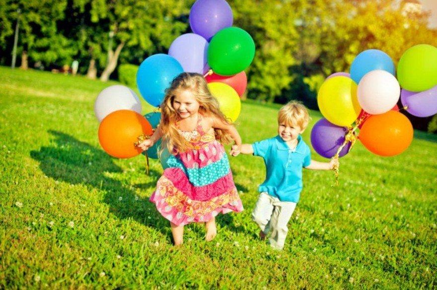 Картинки, картинка дети с шариками