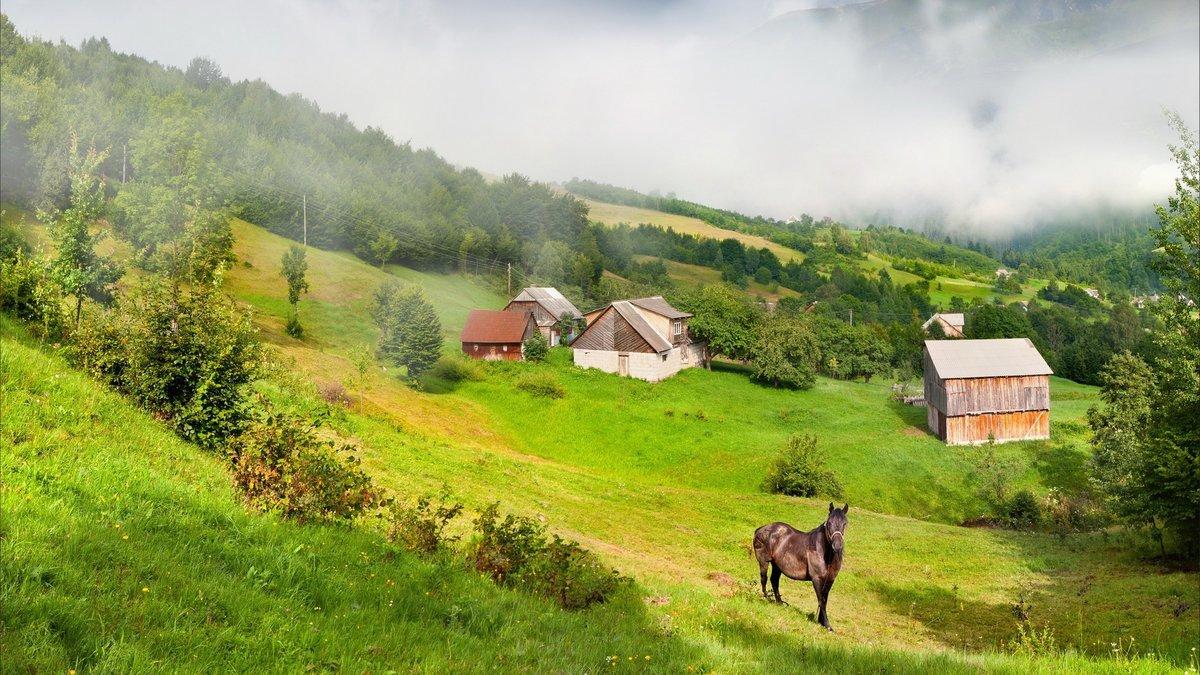 Картинки о селе деревне, сегодня вторник