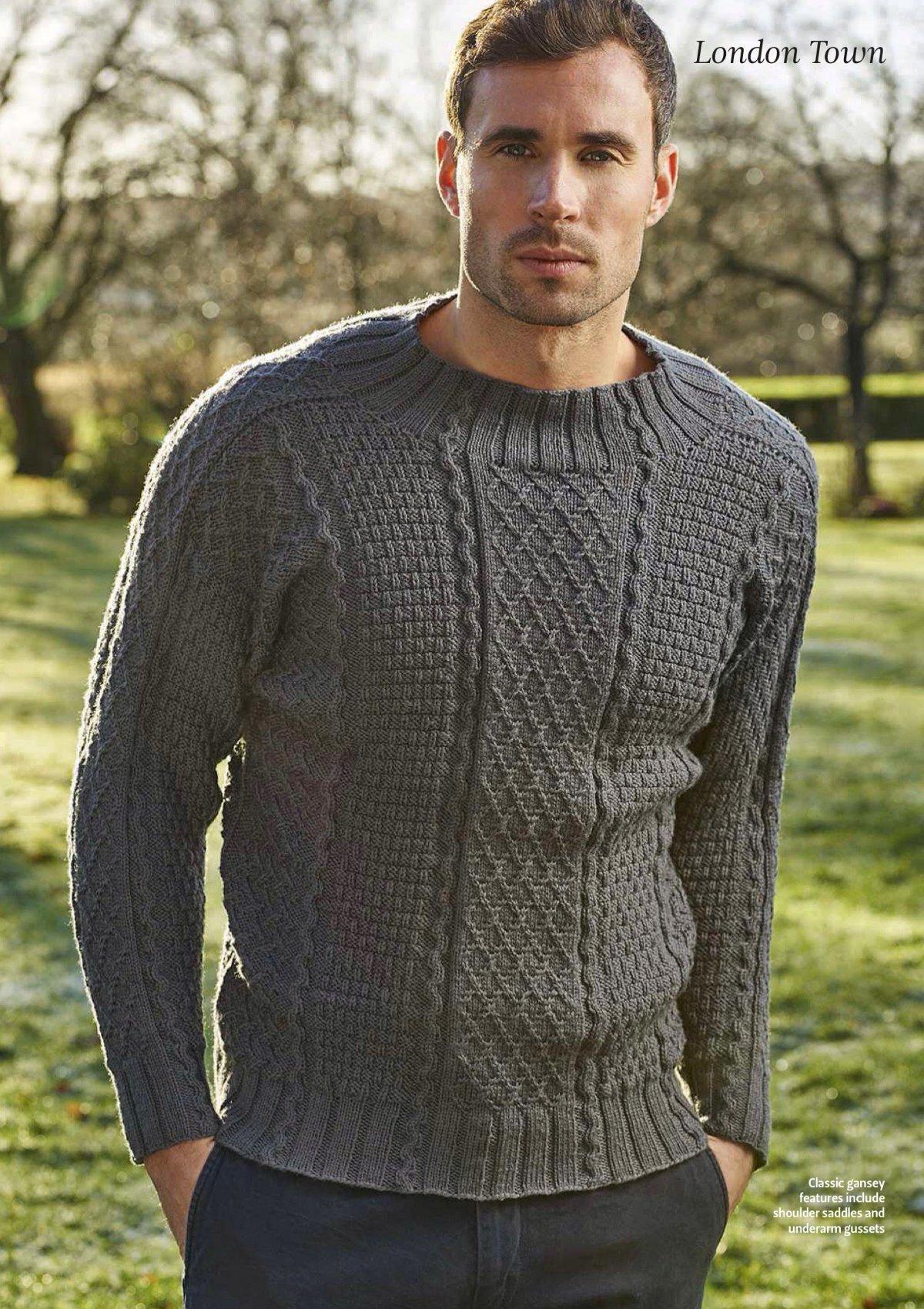 мужских спицами фото свитеров