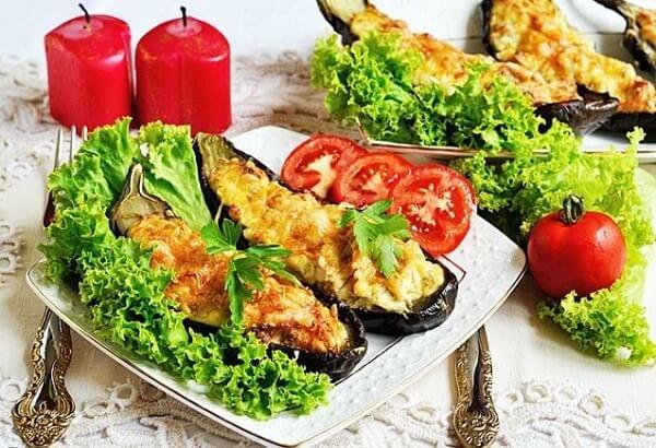 Фаршированные баклажаны овощами в духовке рецепт с фото