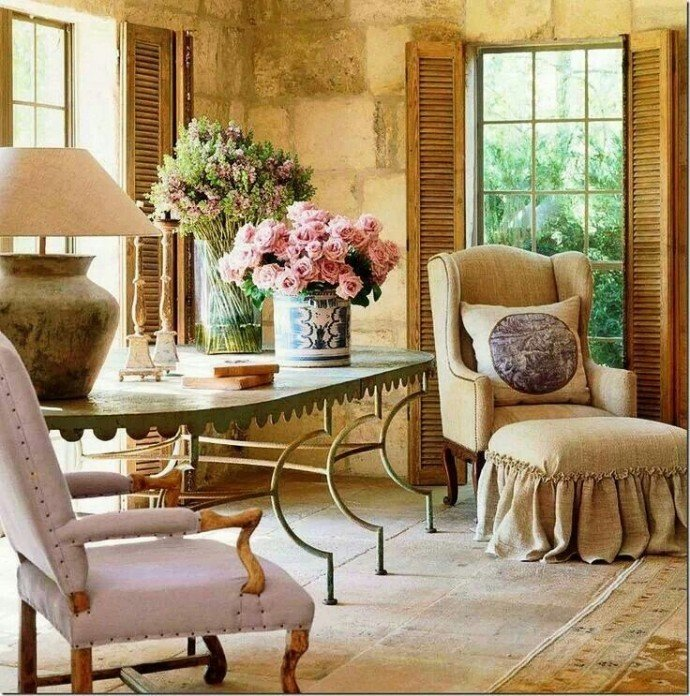 Красивые интерьеры в стиле прованс фото