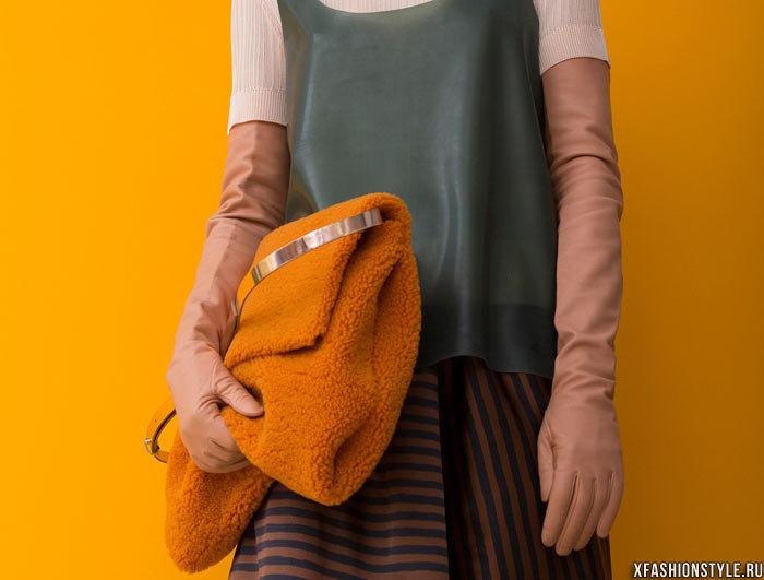 Модные перчатки осенние