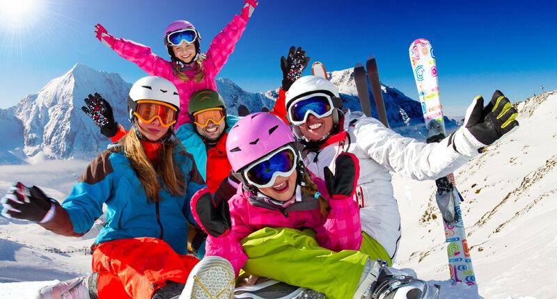Лыжники радуются в Предял.