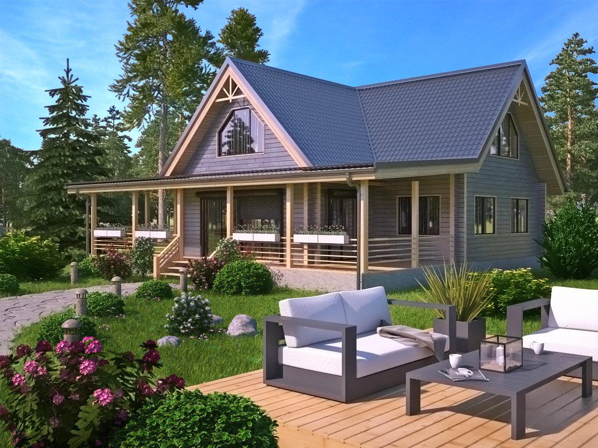 проекты двухэтажных домов фото с верандой замечательную клиентку