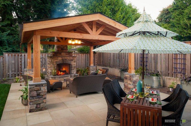 Красивые садовые беседки и барбекю как построить стационарные кирпичные барбекю для дачи своими руками