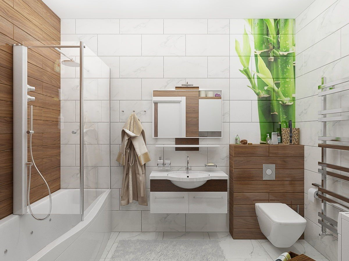 Дизайн ванной маленькой комнаты - 80 фото идей 2018 58