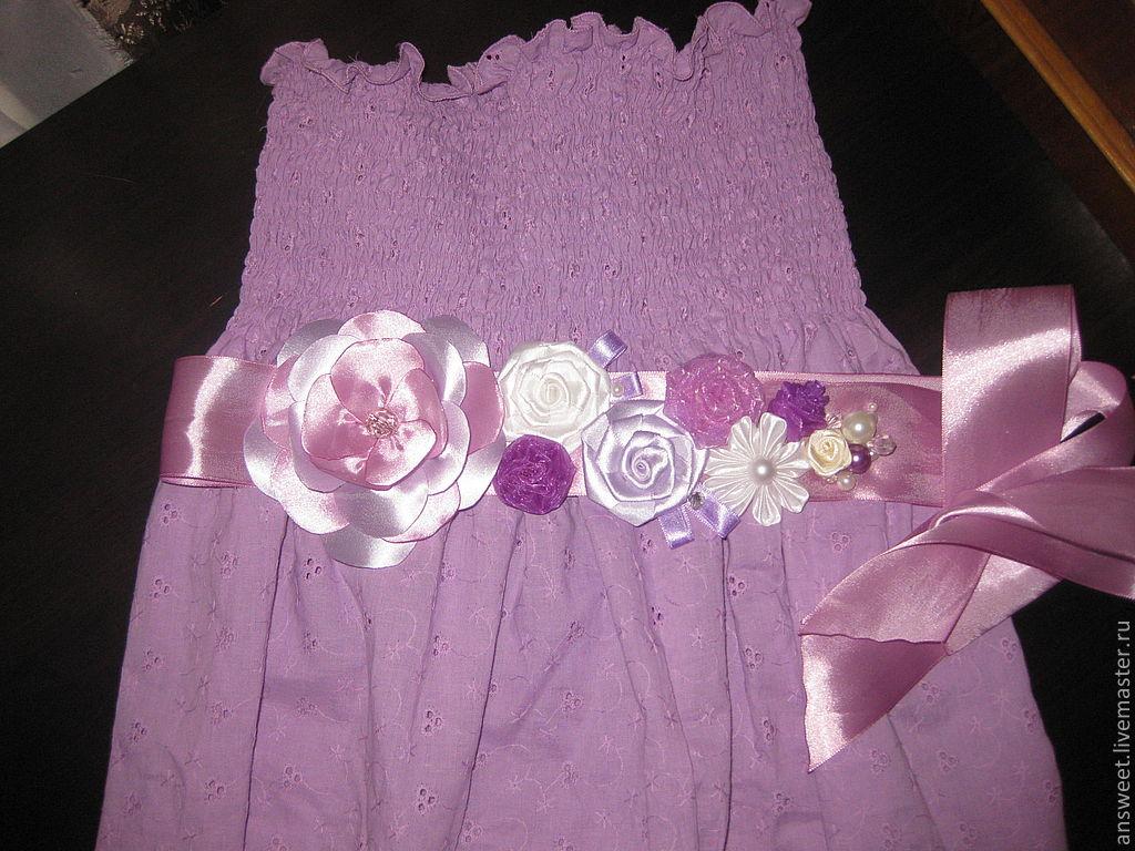 Платья из атласных лент своими руками