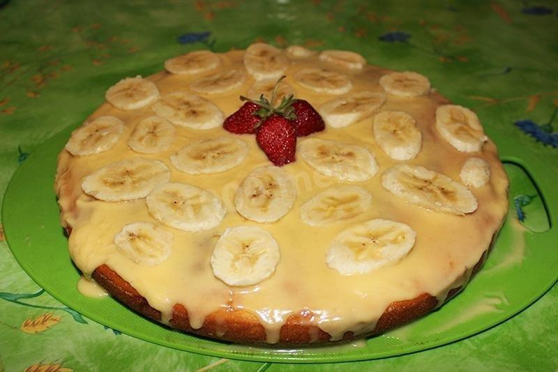 манник с бананом на кефире рецепт с фото