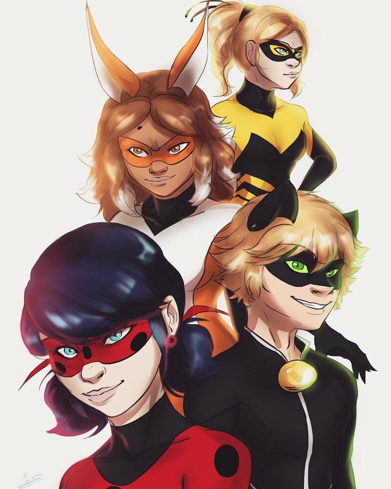 Картинки всех супер героинь и леди баг и супер кот