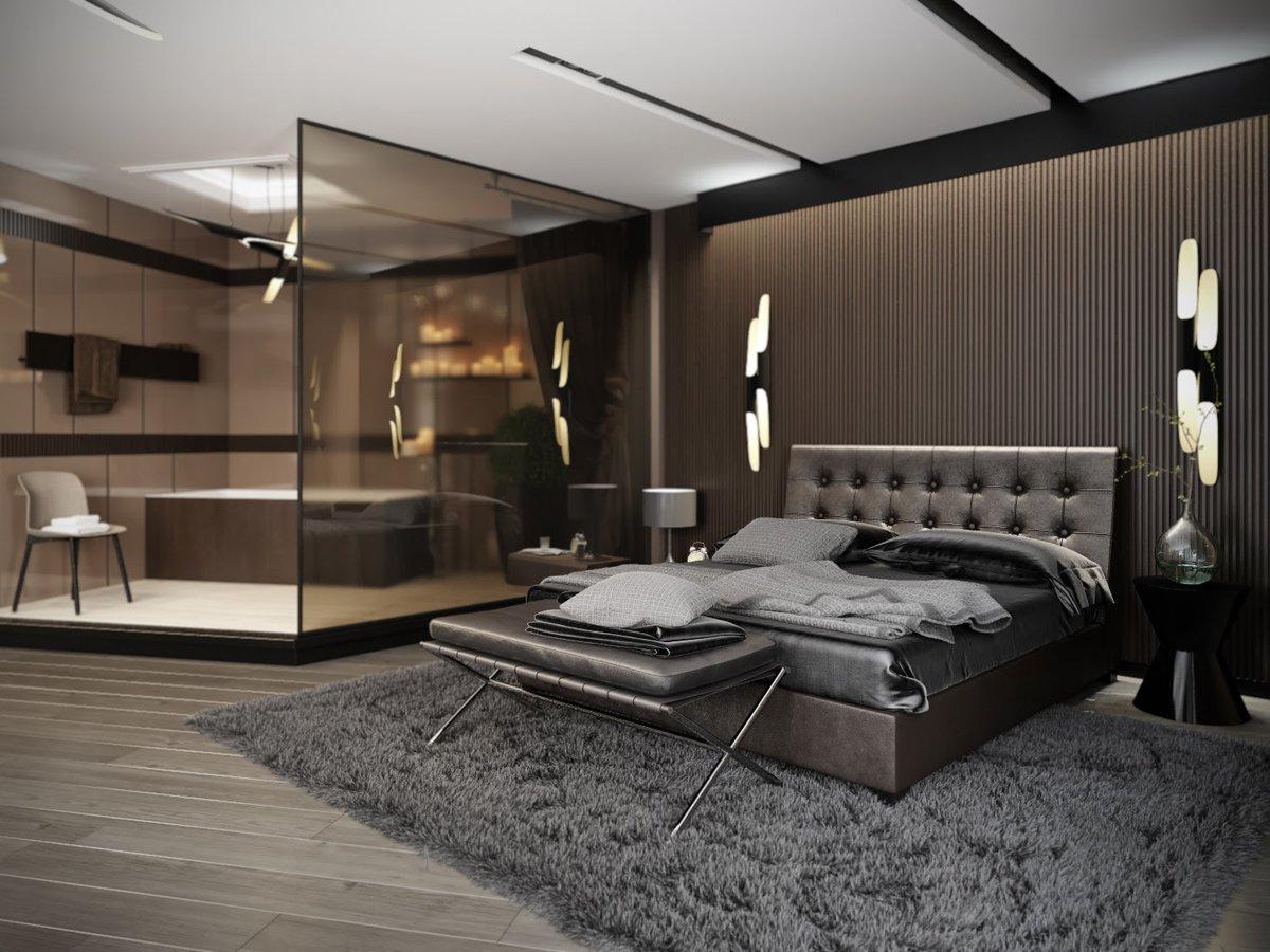 фото дизайна спальни мужчины предполагает, что страдает