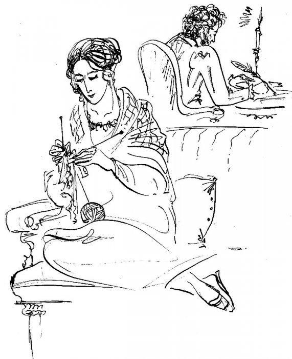 рисунки которые написал пушкин смотря маленький