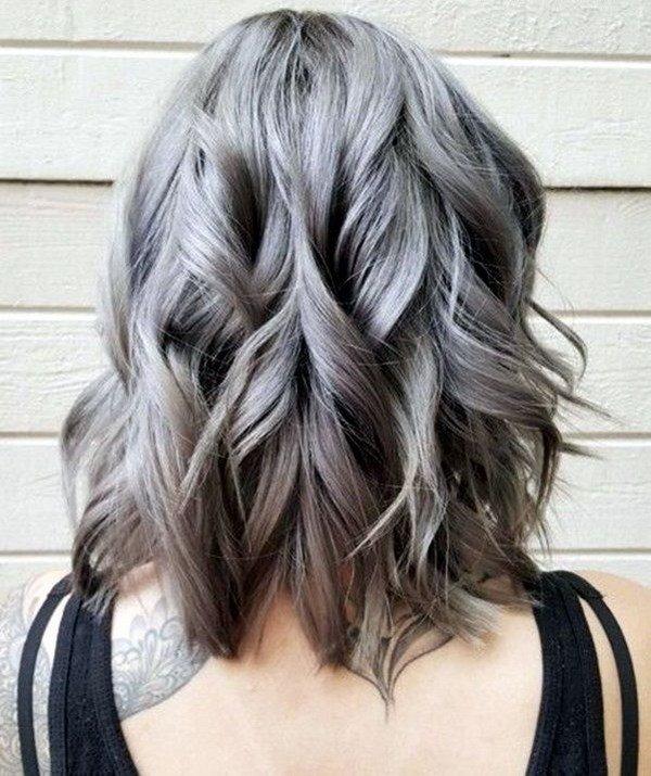 Цвет волос металлик